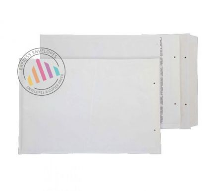340 x 220mm - White Padded Bubble Envelopes - Peel and Seal