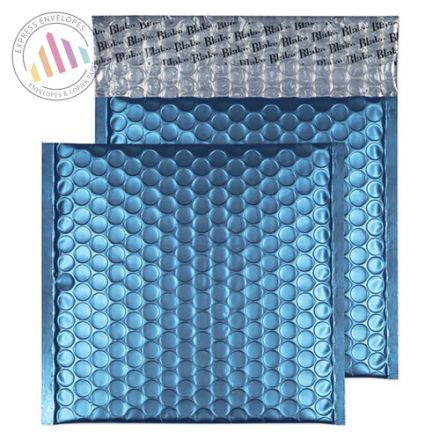 165x165mm - CD Caribbean Blue Padded Bubble Envelopes - Peel and Seal