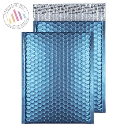 250x180mm - Caribbean Blue Padded Bubble Envelopes - Peel and Seal