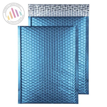 C4 - Caribbean Blue Padded Bubble Envelopes - Peel and Seal