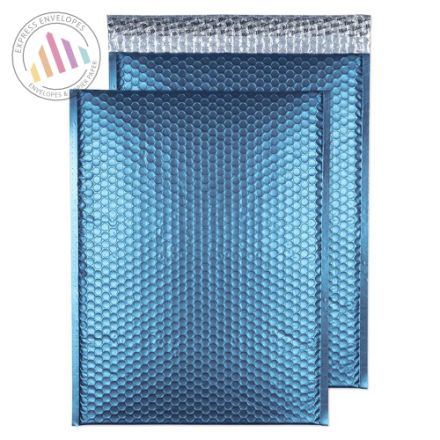 C3 - Caribbean Blue Padded Bubble Envelopes - Peel and Seal