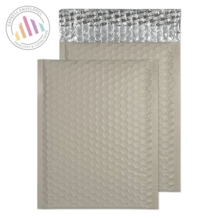 250×180mm - Storm Grey Padded Bubble Envelopes - Peel and Seal