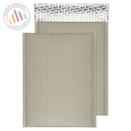 C4 - Storm Grey Padded Bubble Envelopes - Peel and Seal