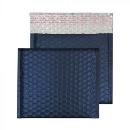 165×165mm - CD Oxford Blue Padded Bubble Envelopes - Peel and Seal