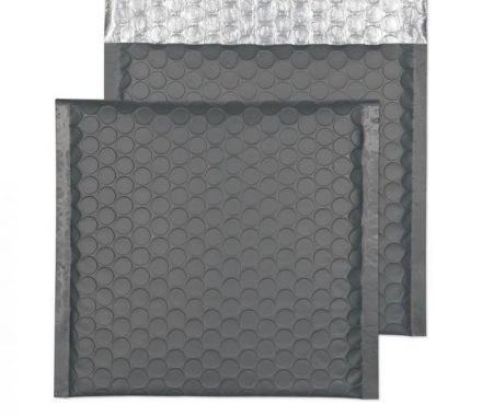 165×165mm - CD Graphite Grey Padded Bubble Envelopes - Peal and Seal