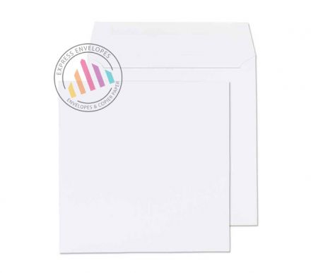 190 x 190mm - White Commercial Envelopes - 100gsm - Non Window - Gummed