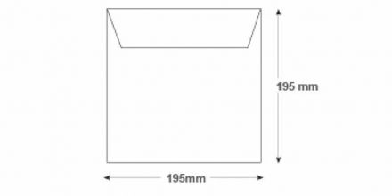 195 x 195mm - White Commercial Envelopes - 100gsm - Non Window - Gummed - image 2
