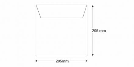 205 x 205mm - White Commercial Envelopes - 100gsm - Non Window - Gummed - image 2