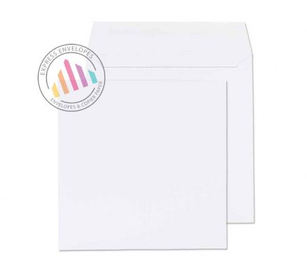 240x240mm -  White Mailing Envelopes - 100gsm - Non Window - Gummed