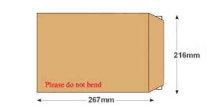 267x216mm - Manilla Board Back Envelopes - 120gsm - Non Window - Peel and Seal - image 2