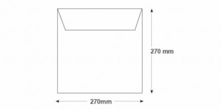 270 x 270mm - White Commercial Envelopes - 100gsm - Non Window - Gummed - image 2
