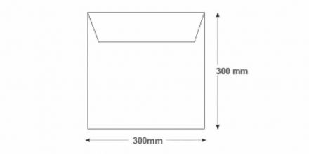 300 x 300mm - White Commercial Envelopes - 100gsm - Non Window - Gummed - image 2