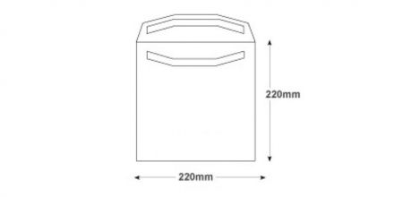 220x220mm - White Mailing Envelopes - 100gsm - Non Window - Self Seal - image 2