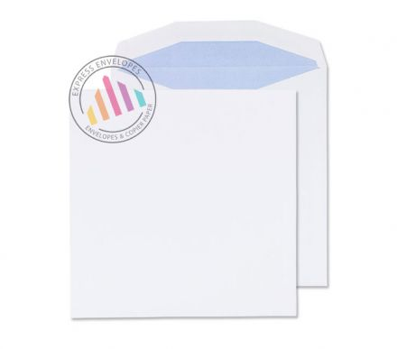 220 x 220mm - White Mailng Envelopes - 100gsm - Non Window - Gummed
