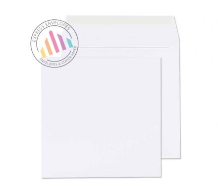 165x165mm - White Commercial Envelopes - 100gsm - Non Window - Peel & Seal