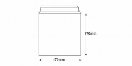 170x170mm - White Commercial Envelopes - 100gsm - Non Window - Peel & Seal - image 2