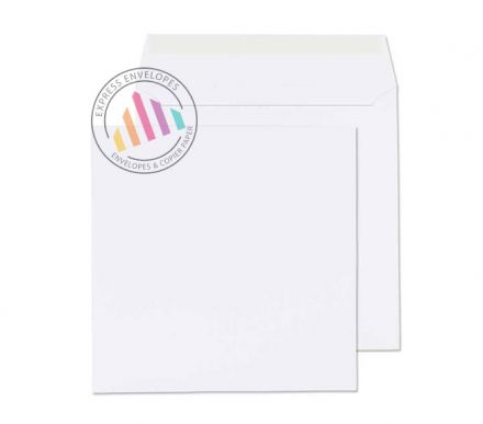 190 x 190mm - White Commercial Envelopes - 100gsm - Non Window - Peel & Seal