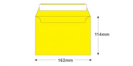 C6 - Banana Yellow Envelopes - 120gsm - Non Window - Peel and Seal - image 2