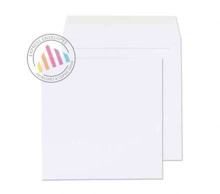 220x220mm - Ultra White Wove Envelopes - 120gsm - Non Window - Peel & Seal