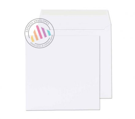 155x155mm - Ultra White Wove Envelopes - 120gsm - Non Window - Peel & Seal