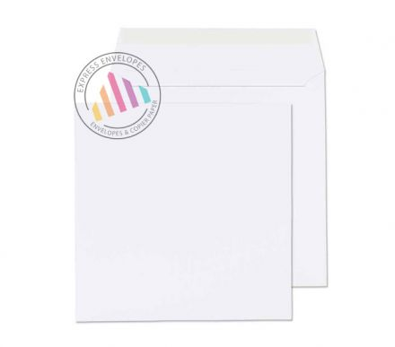 165x165mm - Ultra White Square Envelopes - 120gsm - Non Window - Peel & Seal
