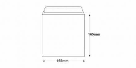 165 x 165mm - Ultra White Square Envelopes - 120gsm - Non Window - Peel & Seal - image 2