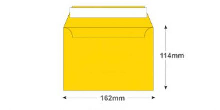 C6 - Egg Yellow Envelopes - 120gsm - Non Window - Peel and Seal - image 2