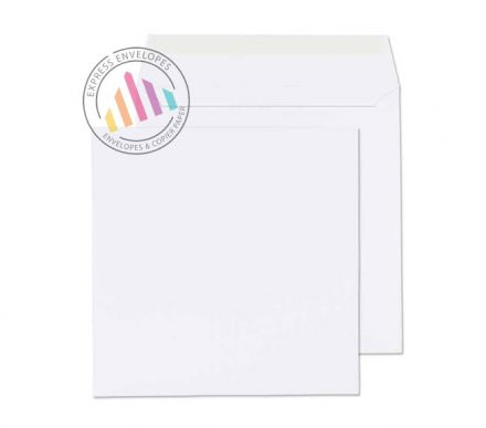 300x300mm - Ultra White Wove Envelopes - 120gsm - Non Window - Peel & Seal