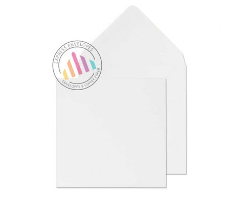 111x111mm - White Invitation Envelopes - 90gsm - Non Window - Gummed