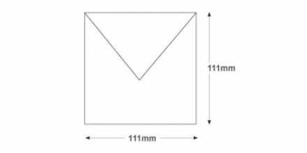 111x111mm - White Invitation Envelopes - 90gsm - Non Window - Gummed - image 2