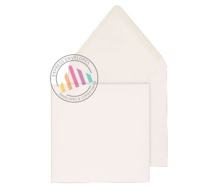 146x146mm - White Invitation Envelopes - 90gsm - Non Window - Gummed