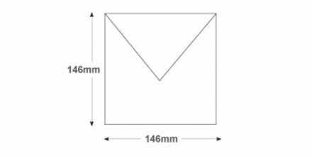 146 x 146mm - White Invitation Envelopes - 90gsm - Non Window - Gummed - image 2