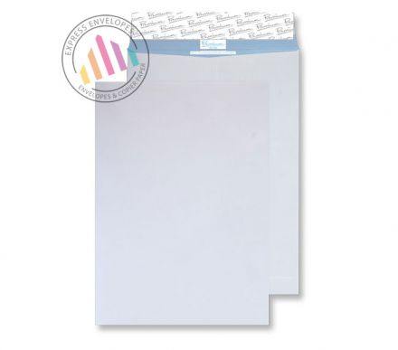 C4 - White Tear Ressistant Envelopes - 120gsm - Non Window - Peel & Seal