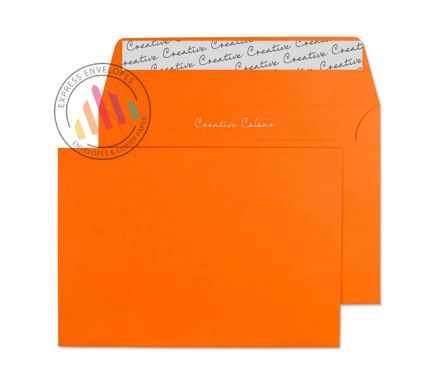 C6 - Pumpkin Orange Envelopes - 120gsm - No Window - Peel and Seal