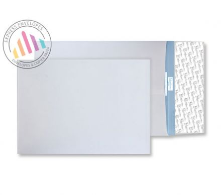 C4 - White Tear Resistant Gusset Envelopes  - 125gsm - Non Window - Peel & Seal