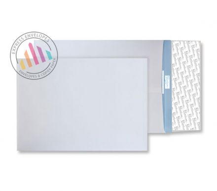 406x305mm - White Tear Resistant Envelopes - 125gsm - Non Window - Peel & Seal