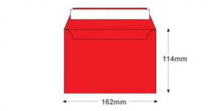 C6 - Pillar Box Red Envelopes - 120gsm - Non Window - Peel and Seal - image 2