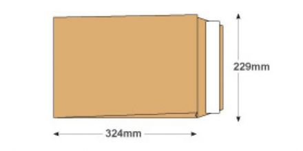 C4 - Manilla Gusset Envelopes - 130gsm - Non Window - Peel & Seal  - image 2