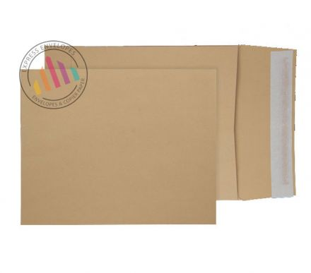 305 x 250 - Manilla Gusset Envelopes - 140gsm - Non Window - Peel & Seal
