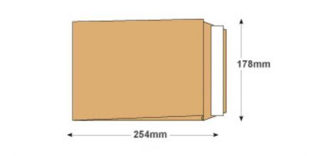 254x178x25mm - Manilla Gusset Envelopes - 120gsm - Non Window - Peel & Seal - image 2