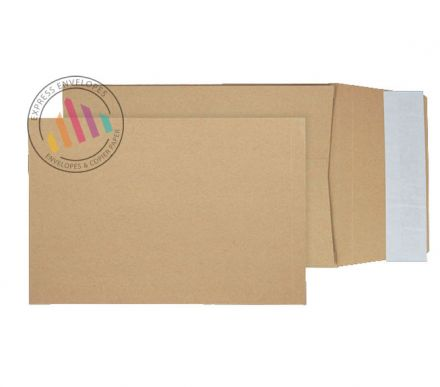 229×162×25mm - Manilla Gusset Envelopes - 120gsm - Non Window - Peel & Seal