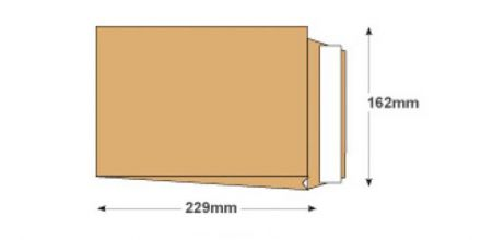 229×162×25mm - Manilla Gusset Envelopes - 120gsm - Non Window - Peel & Seal - image 2