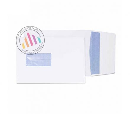 C5 - White Gusset Envelopes - 120gsm - Window - Peel & Seal