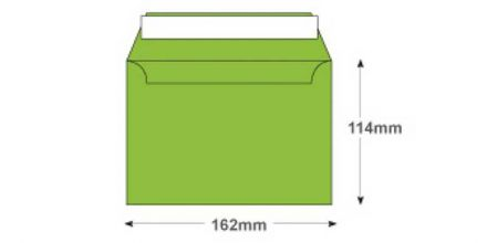 C6 - Lime Green Envelopes - 120gsm - Non Window - Peel and Seal - image 2