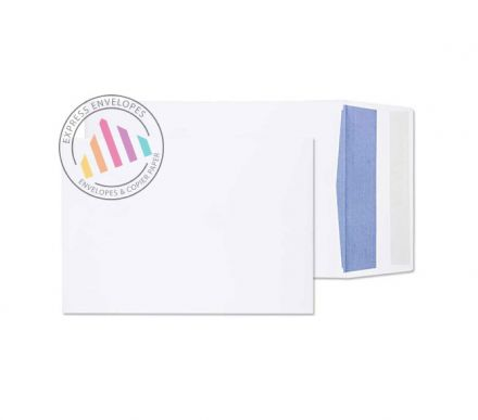 254x178mm - White Gusset Envelopes - 120gsm - Non Window - Peel & Seal
