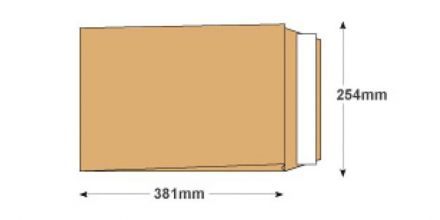 381 x 254mm x 25m - Manilla Gusset Envelopes - 140gsm - Non Window - Peel & Seal - image 2