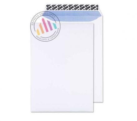 381 x 254mm - White Gusset Envelopes - 140gsm - Non Window - Peel & Seal
