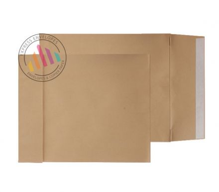 406 x 305mm - Manilla Gusset Envelopes - 140gsm - Non Window - Peel & Seal