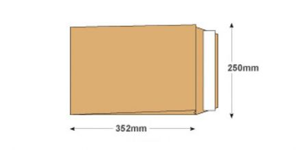 B4 - Manilla Gusset Envelopes - 140gsm - Non Window - Peel & Seal - image 2