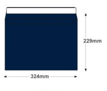 C4 - Oxford Intensive Blue Envelopes - 120gsm - Non Window - Peel and Seal - image 2